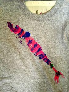 fish print t-shirt